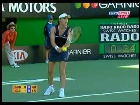 2006 Australian Open 1/4 - Clijters vs Hingis
