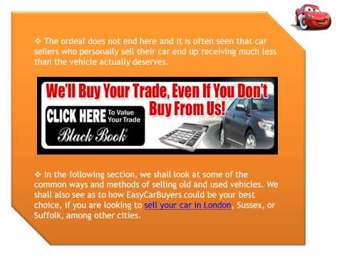 Selling a Car Online is the Best Option in London and Other Cities