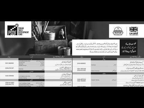 Punjab Skills Development Fund (PSDF) Youth Training Program 2018 (With Stipend)