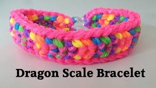 DOUBLE CAPPED DRAGON SCALE Rainbow Loom bracelet Tutorial l JasmineStarler