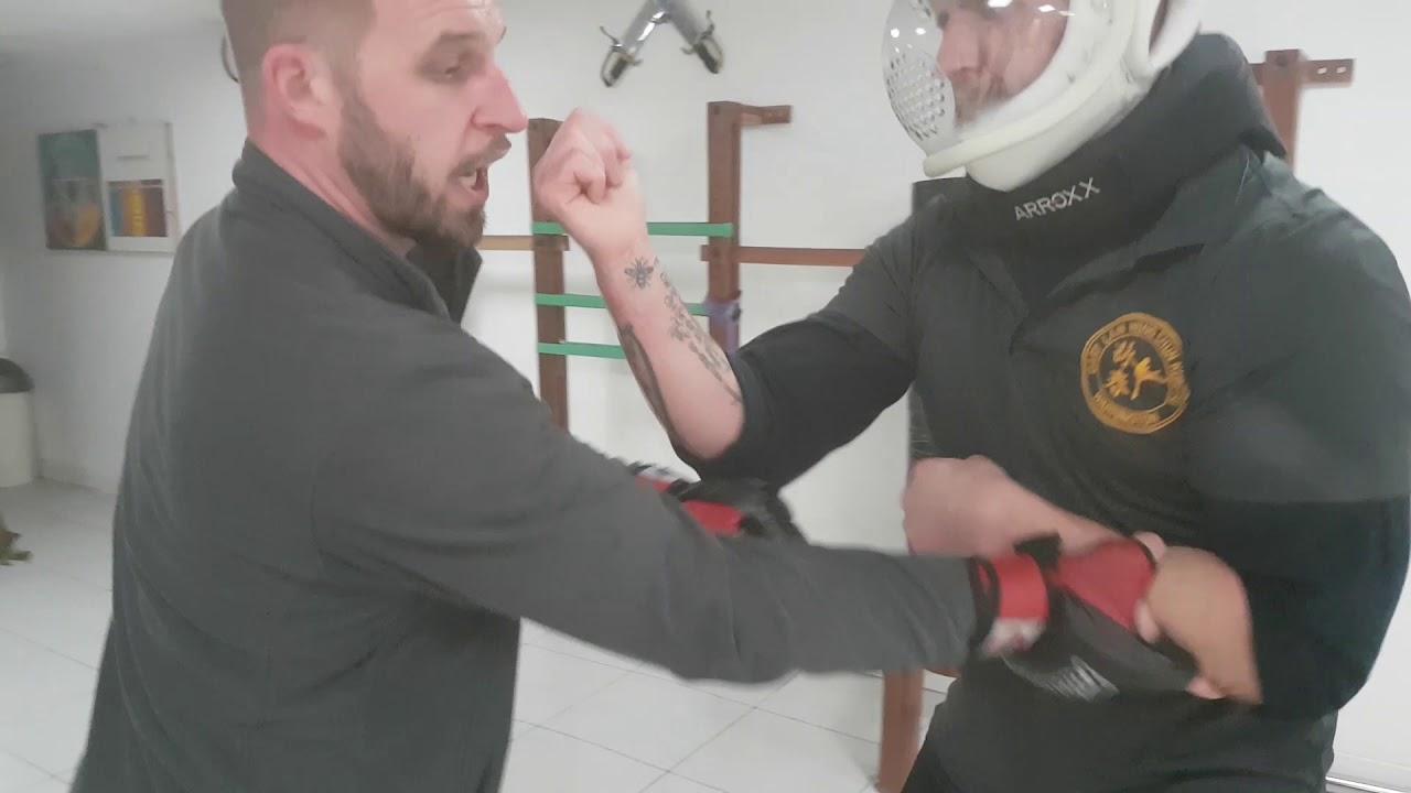 Dragon Pole - Drill - Contact - Wing Chun Warrington UK - John Lobb