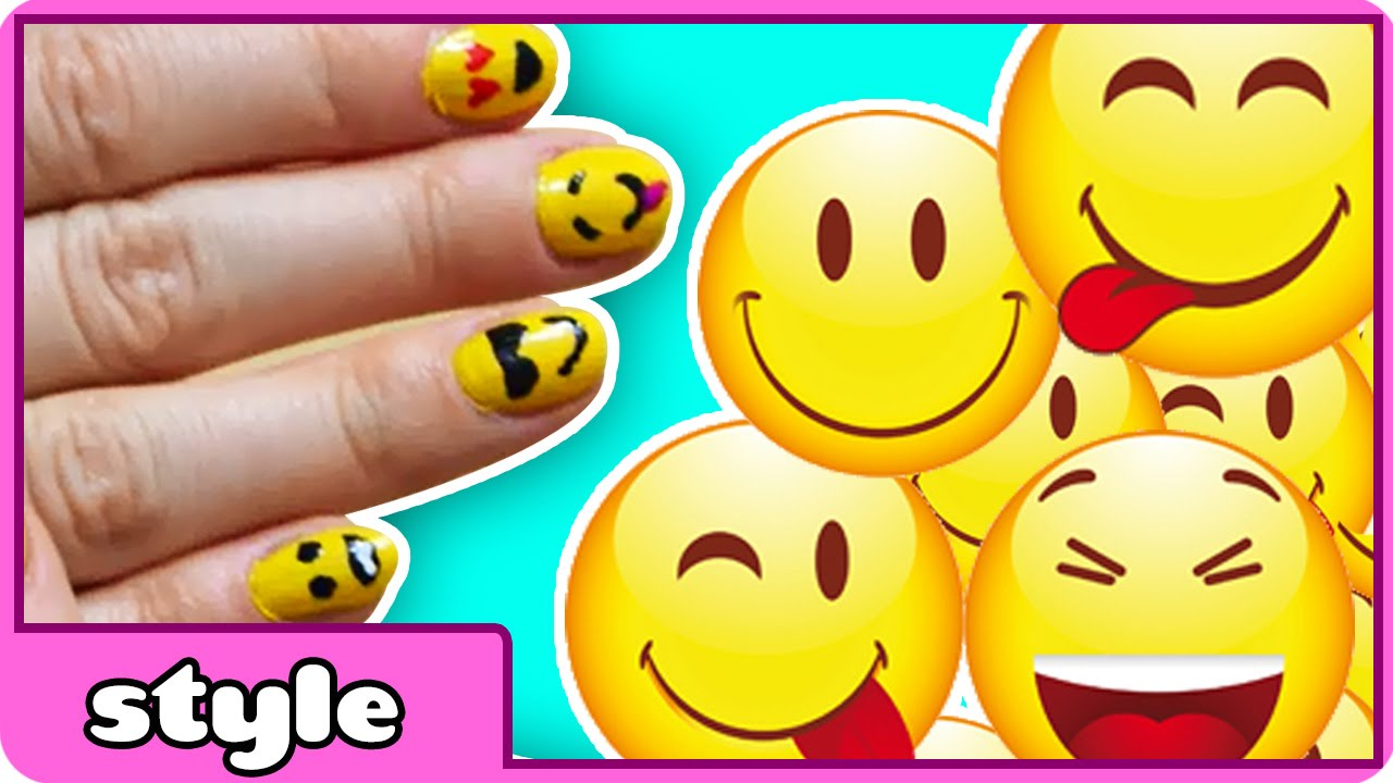 Easy Emoji Nail Art! | DIY Emoji Nails Tutorial - YouTube : Emoji Wall Art Ideas For Kids