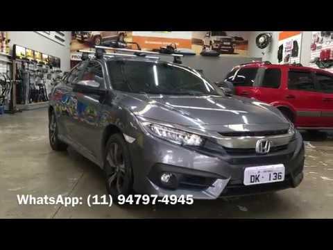 Honda Civic 2017   Rack Thule Wingbar   Transbike Thule ProRide   Thule    Dk136 Acessórios