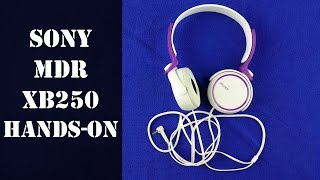 Sony MDR XB250 Headphones Full Hands on Review