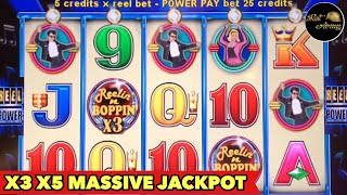 🔥BIG JACKPOT HANDPAY🔥 REELIN N BOPPIN Slot Machine JAW DROP BONUS MONSTER WIN