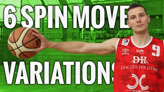 6 basketball dribble moves off of the spin move