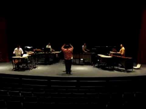 """Percussion Quartet"" by Charles Wuorinen, Peter Jarvis - Conductor"