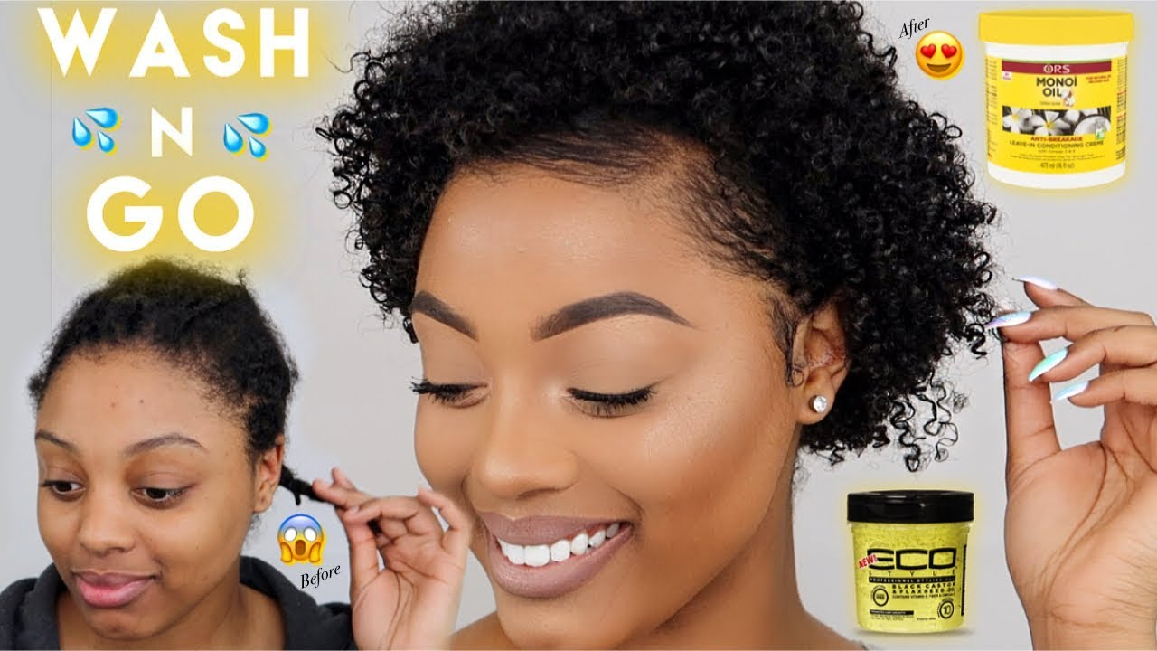 Easy Wash N Go For Short Natural Hair Define Curls 3c 4a Hair