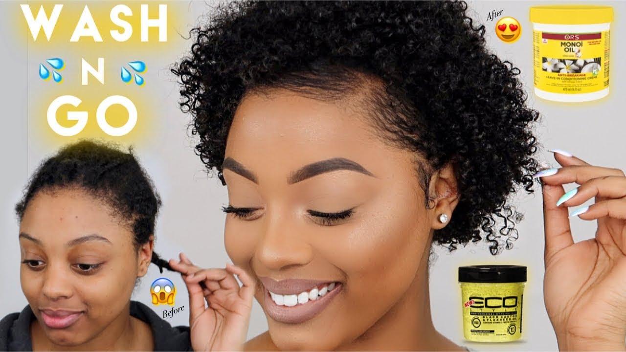 Easy Wash N Go For Short Natural Hair Define Curls 3c 4a Hair