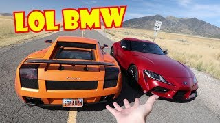 Toyota Supra Tries to Embarass Lamborghini LOL