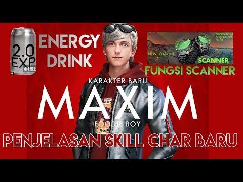 Skill MAXIM, Fungsi Scanner, Energy Drink, Info Update Garena Free Fire Indonesia