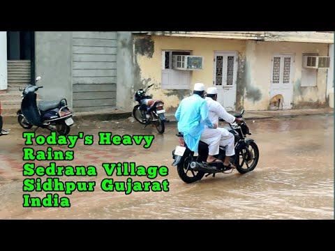 Today's Heavy Rains Sedrana Village Sidhpur Gujarat India  Part-1(2)