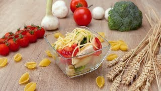 Салат с курицей и макаронами - Рецепты от Со Вкусом