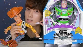 ASMR TOY STORY 4 WOODY BUZZ PLAY 토이스토리 우디 버즈 장난감 놀이 Unboxing トイ・ストーリー