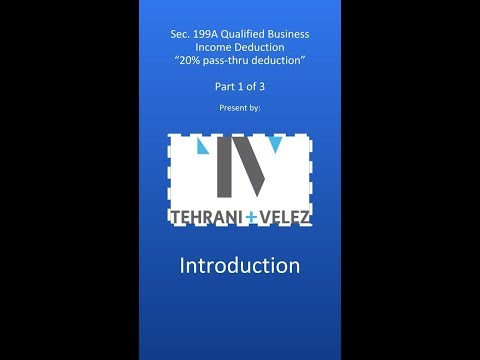 Qualified Business Income (Tax) Deduction (1 of 3)