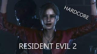 RESIDENT EVIL 2 - CLAIRE || HARDCORE #4