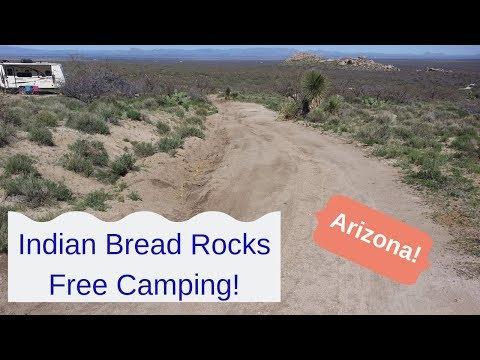 Indian Bread Rocks Boondocking.  Beautiful area south of Bowie AZ