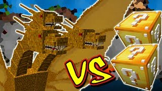KING GHIDORAH VS. LUCKY BLOCK (MINECRAFT LUCKY BLOCK CHALLENGE)