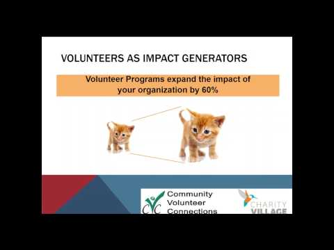 Maximizing the Strategic Impact of your Volunteer Program