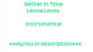 better in time instrumental- Leona Lewis