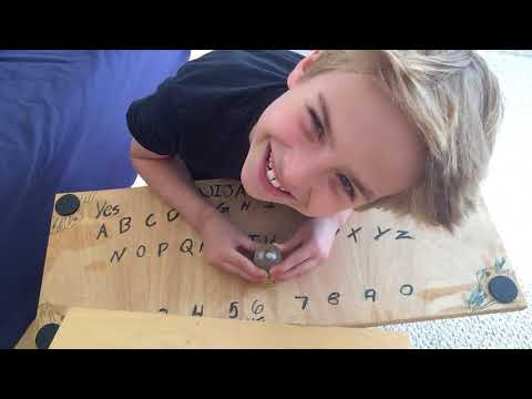 Homemade ouija board test!