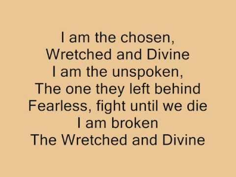 Black Veil Brides- Wretched and Divine(lyrics)