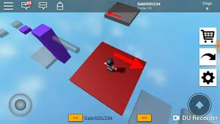 Trying to pass the toughest packour 😫. ROBLOX (Space Ruy)