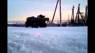 Война на Украине Реальные бои с использованием РПГ Ukraine War   Militants fire on checkpoint RPG