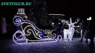 Сани деда Мороза с оленями