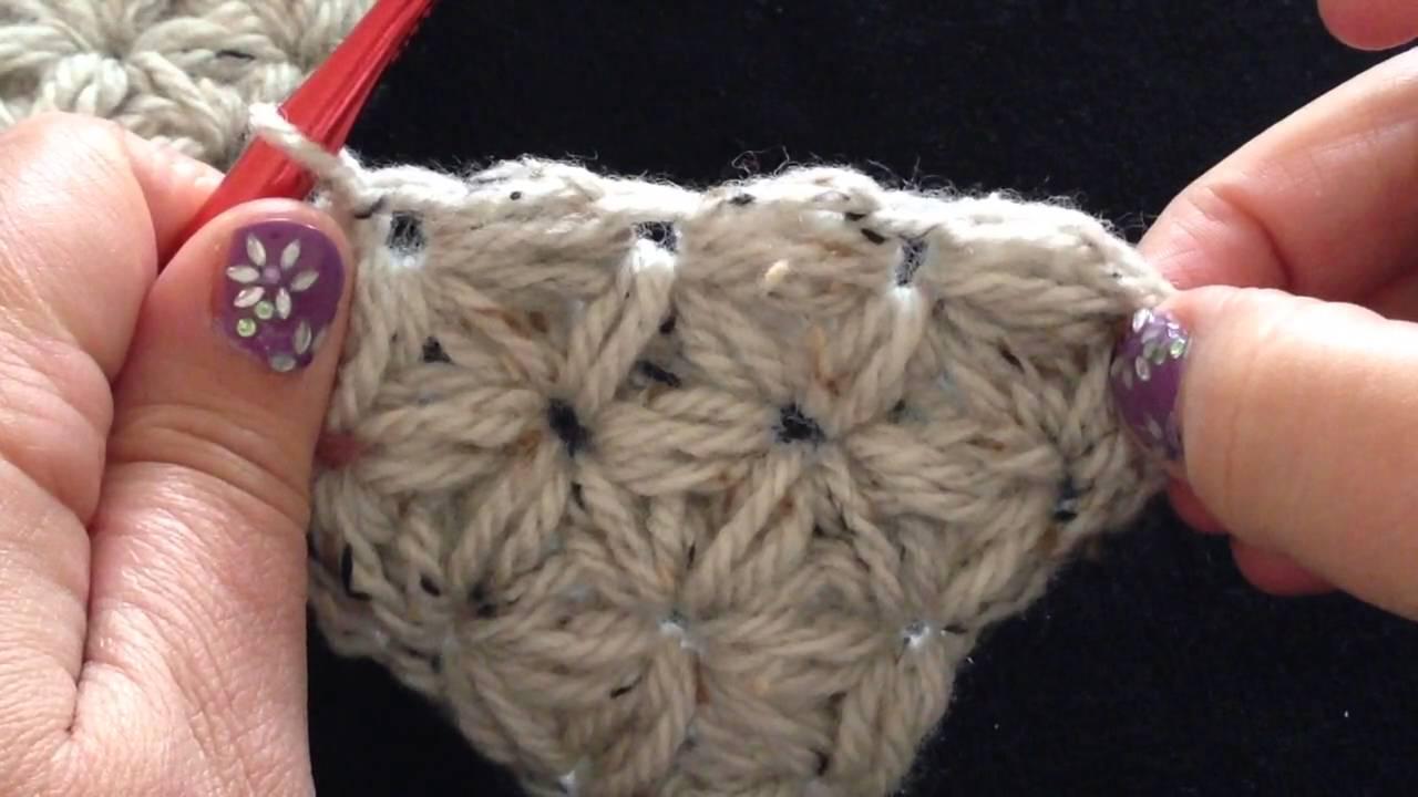 New Deel 2 - Wendy's jasmijn driehoek vanuit de punt gehaakt - Jasmine #OK13