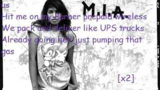 MIA-Paper plane lyrics
