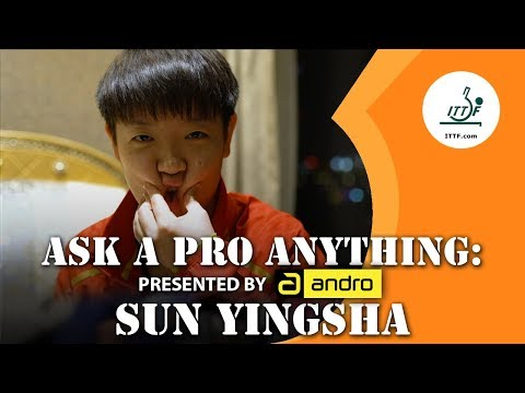 Sun Yingsha   Ask A Pro Anything Presented By Andro