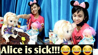Baby Alive is Sick   Alice Part 2   Alice is Sick   Play video     Dr.Play video  LearnwithPriyanshi