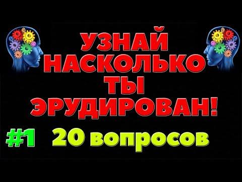 УЗНАЙ НАСКОЛЬКО ТЫ ЭРУДИРОВАН (ТЕСТ) - выпуск 1