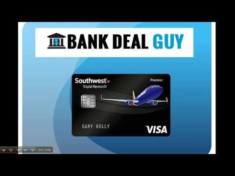 Southwest Rapid Rewards Premier Credit Card 40,000 Bonus Points