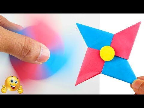How To Make A Paper Fidget Spinner WITHOUT BEARINGS - Origami Fidget Spinner