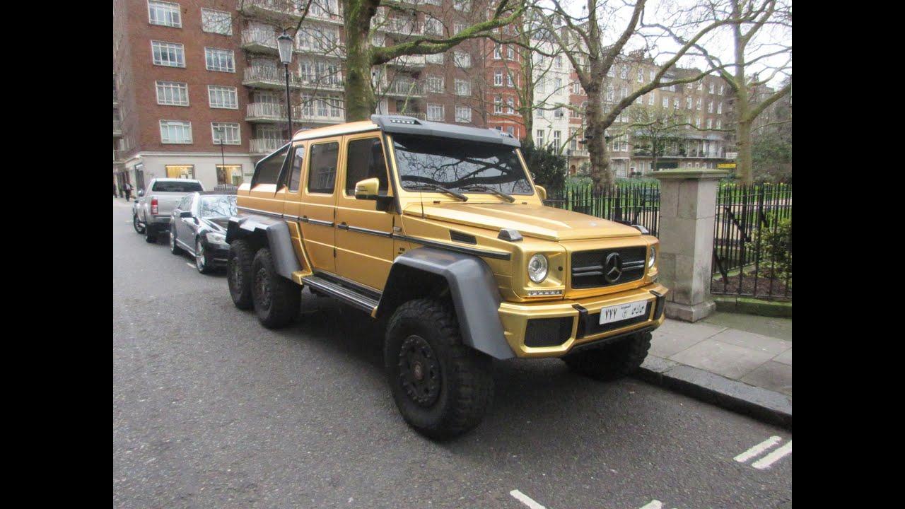 mercedes-benz g63 amg 6x6 (chrome matte gold) look around!! - youtube