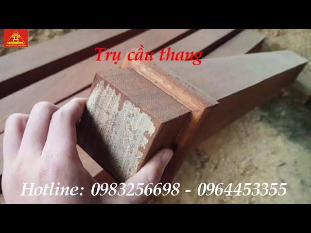 Mẫu trụ cầu thang tay vịn con tiện cầu thang gỗ | Nội Thất Thủ Đô
