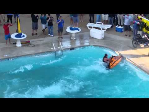 Jetski back flip in pool wave daze 2015