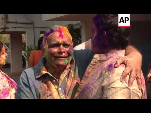 Hindus celebrate colourful Holi festival to mark arrival of spring