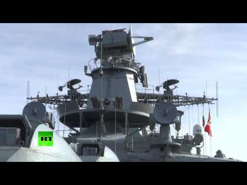 RAW: Russian warships sail off Syrian Mediterranean coast