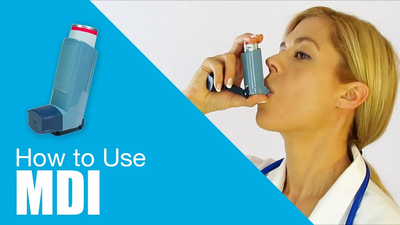 How To Use Metered Dose Inhaler Mdi Youtube