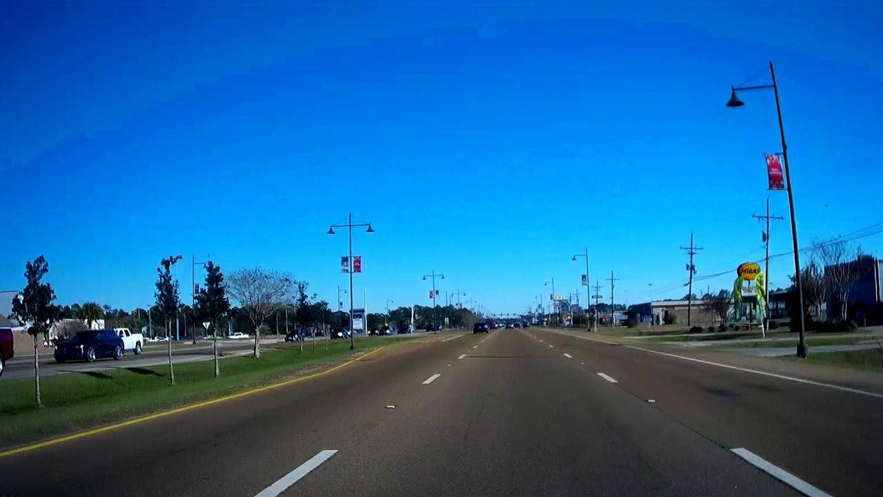 Road Trip US East Ocean Springs To Gautier - Hwy us 90 mississippi map