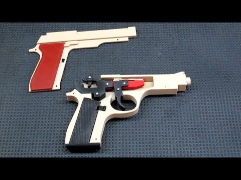 3D Printed Rubber Band Gun - Making It Work