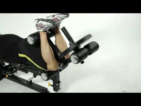Legs   Abs Workout on the Powertec Workbench Utility Bench with Leg Press Acces