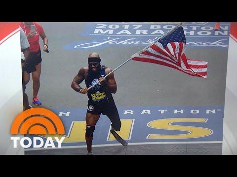 Marine Who Lost Leg Runs Entire Boston Marathon Carrying American Flag | TODAY