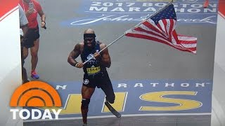 Marine Who Lost Leg Runs Entire Boston Marathon Carrying American Flag | TODAY