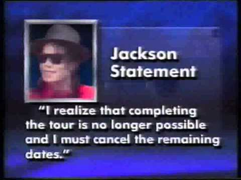 Michael Jackson Pain Killers and end of Tour 1993