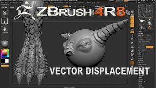 ZBRUSH 4R8 VECTOR DISPLACEMENT - CREATING VECTOR BRUSH IN ZBRUSH 4R8