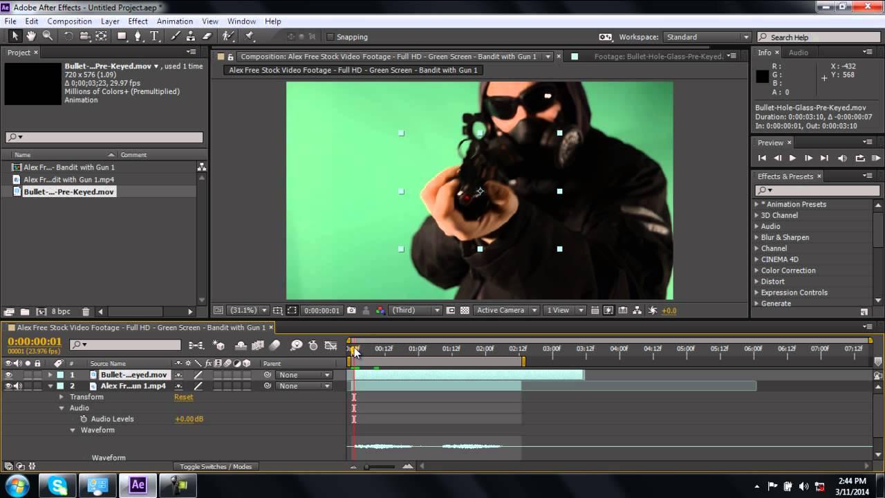 broken screen video effect